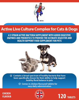 Active live culture complex for cats and dogs - Dr Vitz