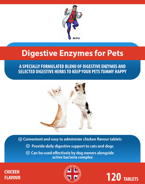 Digestive enzymes for pets (dogs/cats) - Dr Vitz