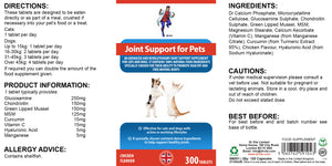 Joint support for pets (cats /dogs) 300 tablets - Dr Vitz