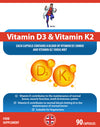 Vitamin D3 3000 IU and Vitamin K2 100ug MK7 90 Capsules - Dr Vitz