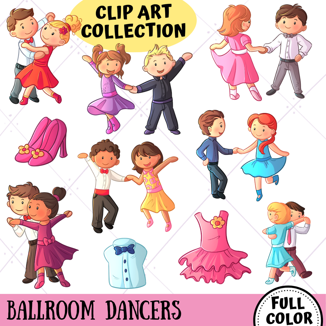 Ballroom Dancers Clip Art Collection