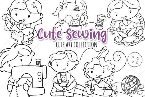 Sewing Digital Stamps