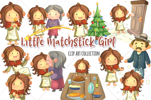 Little Matchstick Girl Clip Art Collection