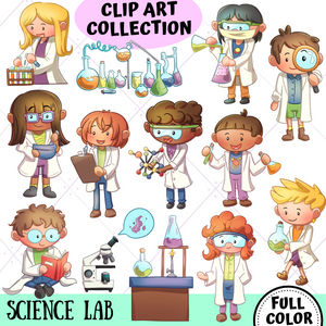 Science Lab Clip Art Collection