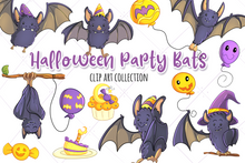 Load image into Gallery viewer, Halloween Party Bats Clip Art Collection