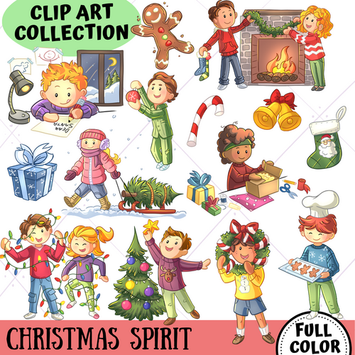 Christmas Spirit Clip Art Collection