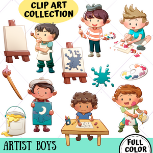Artist Boys Clip Art Collection