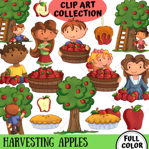 Apple Harvest Clip Art Collection