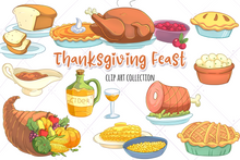 Load image into Gallery viewer, Thanksgiving Feast Clip Art Collection