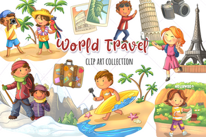 World Travel Clip Art Collection