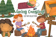 Load image into Gallery viewer, Camping Clip Art Collection