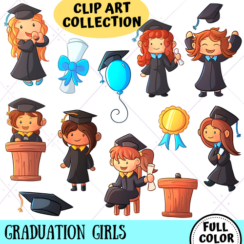 Graduation Girls Clip Art Collection