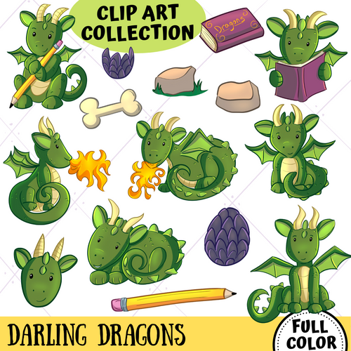 Dragons Clip Art Collection