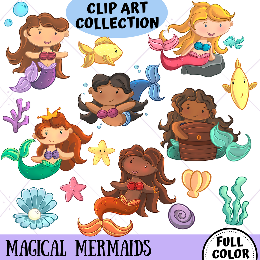 Mermaid Clip Art Collection