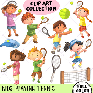 Playing Tennis Clip Art Collection