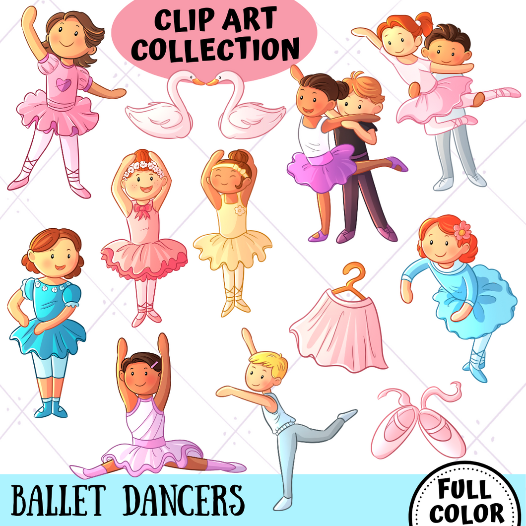 Ballet Dancers Clip Art Collection
