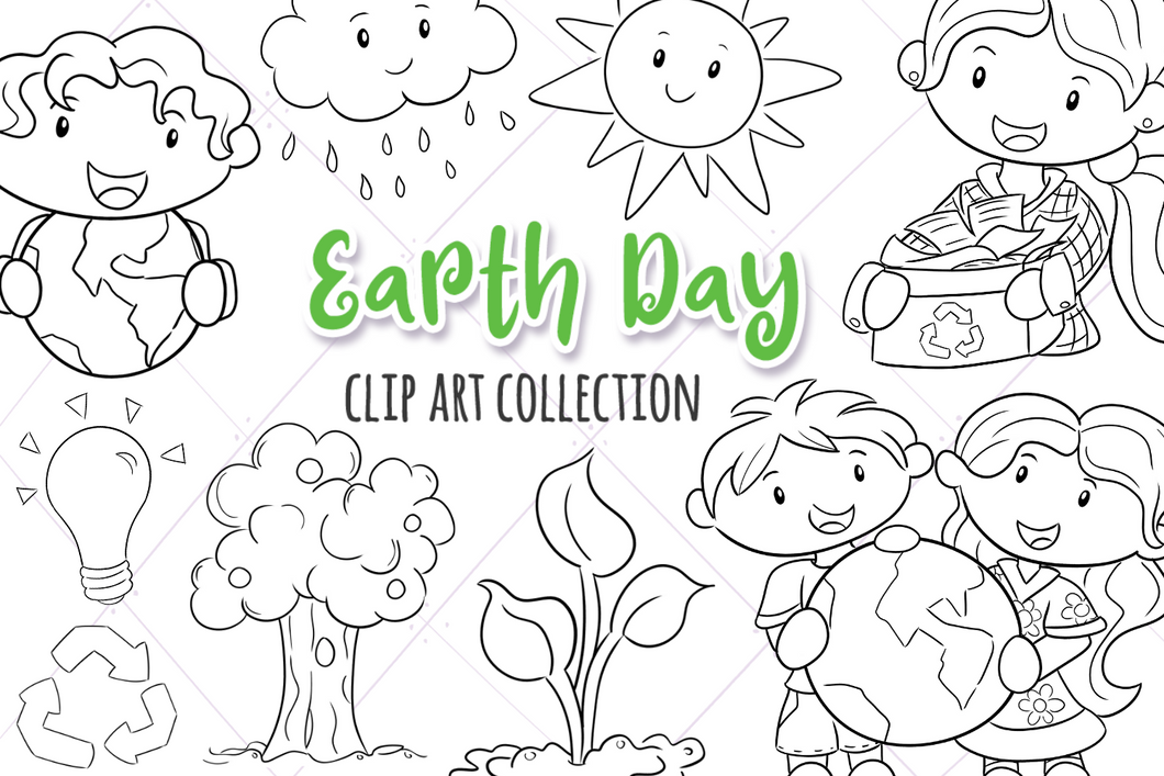 Earth Day Digital Stamps