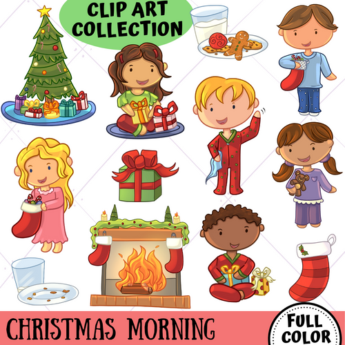 Christmas Morning Clip Art Collection