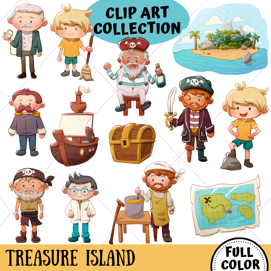 Treasure Island Clip Art Collection