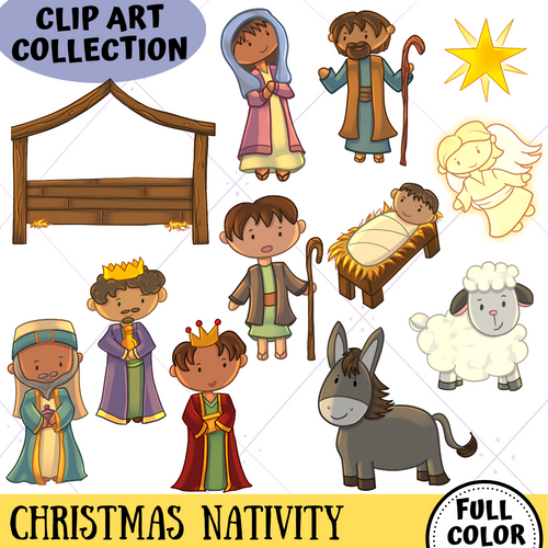 Christmas Nativity Clip Art Collection