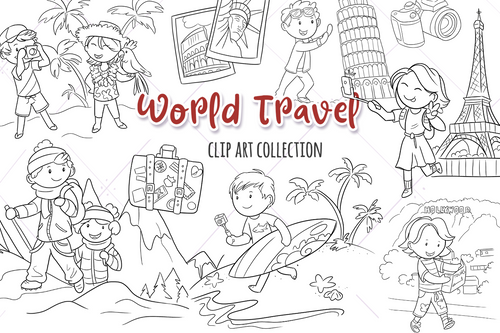 World Travel Digital Stamps