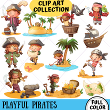 Load image into Gallery viewer, Playful Pirates Clip Art Collection
