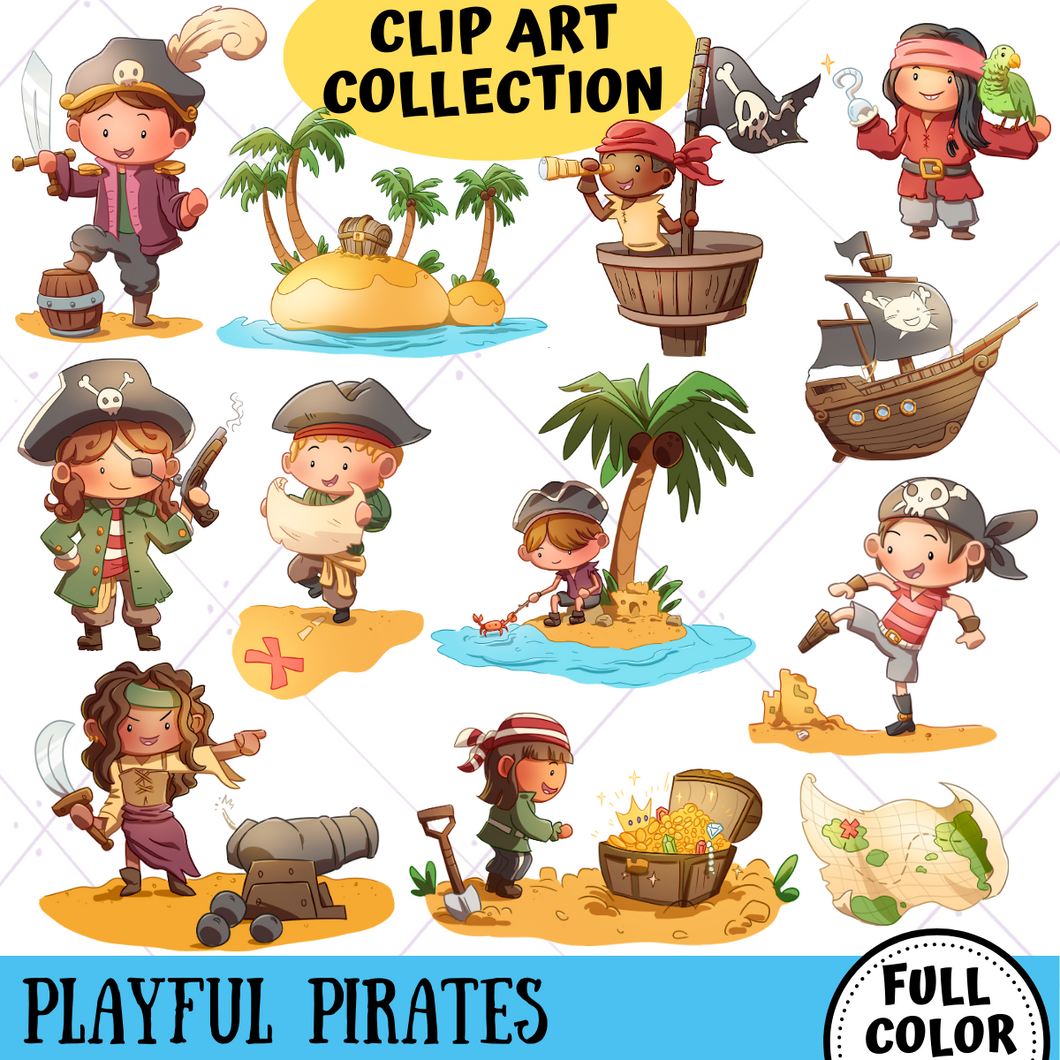 Playful Pirates Clip Art Collection