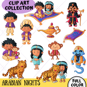 Arabian Nights Clip Art Collection