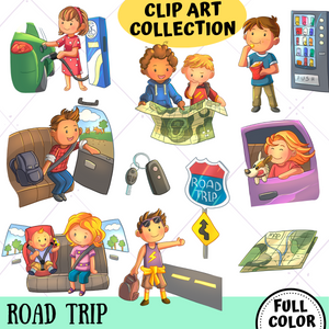 Road Trip Clip Art Collection