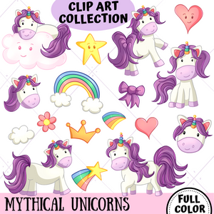 Unicorn Clip Art Collection