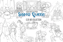 Load image into Gallery viewer, Snow Queen Digital Stamps