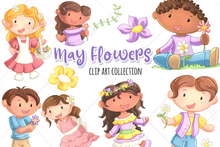 Load image into Gallery viewer, May Flowers Clip Art Collection