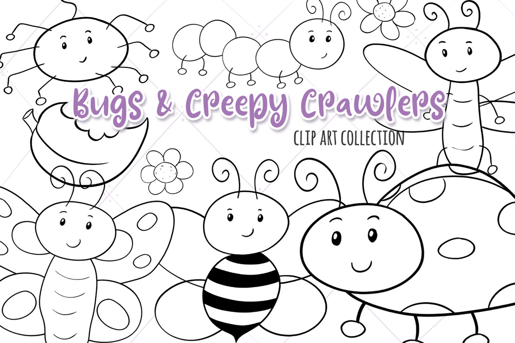 Bugs and Creepy Crawlers Digital Stamps
