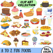 Load image into Gallery viewer, A to Z Fun Food Clip Art Collection