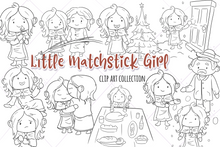 Load image into Gallery viewer, Little Matchstick Girl Digital Stamps