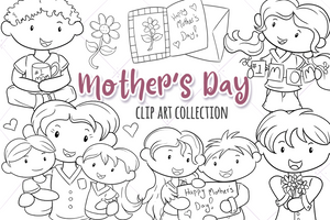 Mother's Day Digital Stamps