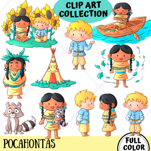 Pocahontas Clip Art Collection