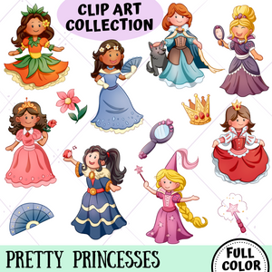 Pretty Princesses Clip Art Collection