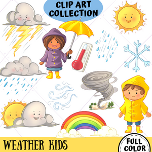 Weather Kids Clip Art Collection