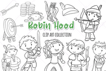 Load image into Gallery viewer, Robin Hood Digital Stamps