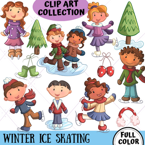 Ice Skating Clip Art Collection
