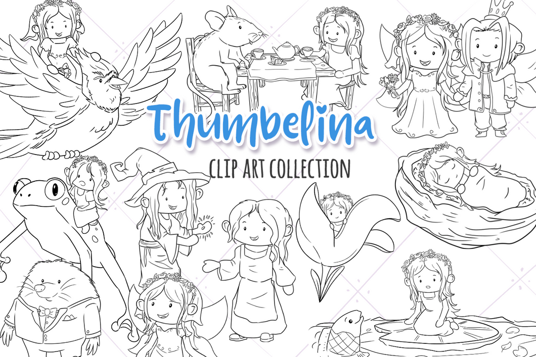 Thumbelina Digital Stamps