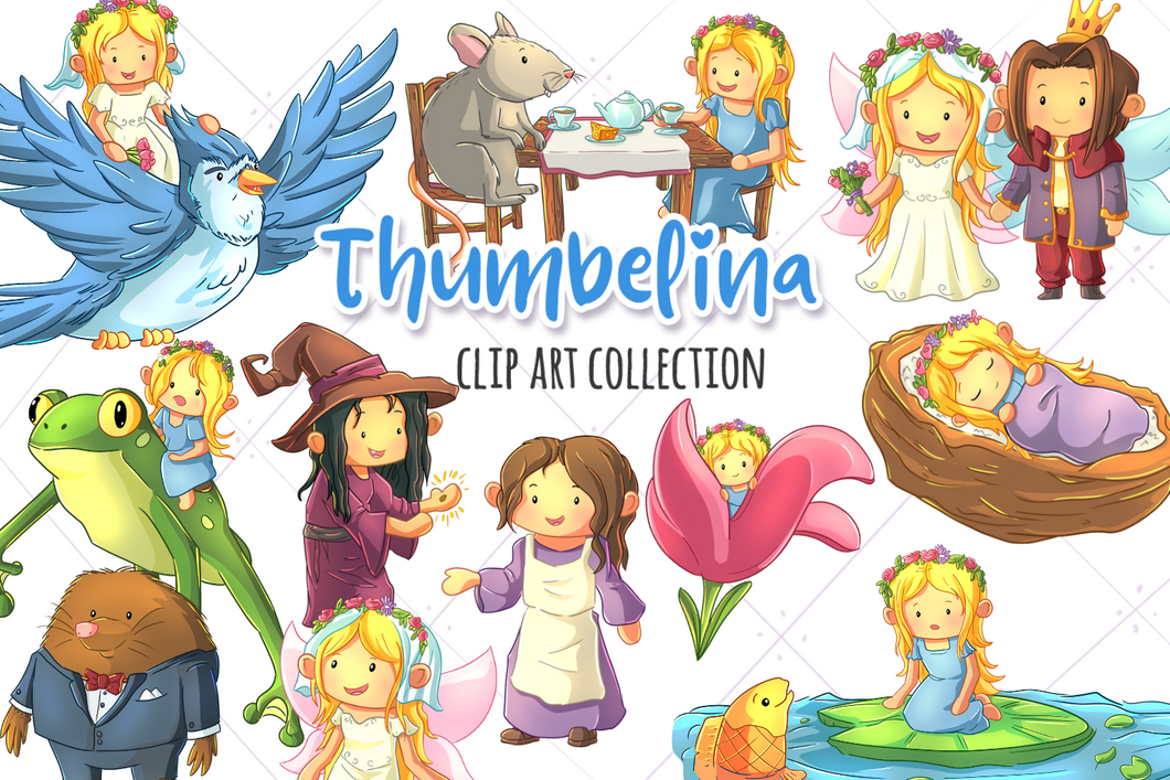 Thumbelina Clip Art Collection