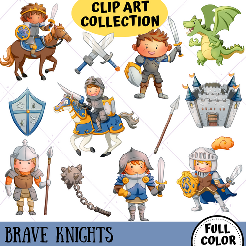 Brave Knights Clip Art Collection
