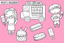 Load image into Gallery viewer, Ice Cream Truck Digital Stamps
