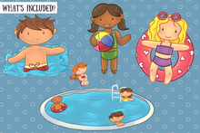 Load image into Gallery viewer, Pool Party Clip Art Collection
