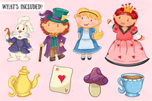 Load image into Gallery viewer, Alice In Wonderland Clip Art Collection