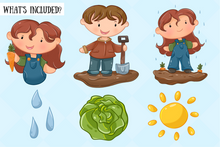 Load image into Gallery viewer, Vegetable Garden Clip Art Collection