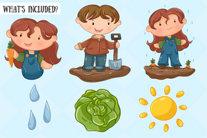 Vegetable Garden Clip Art Collection