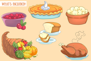 Thanksgiving Feast Clip Art Collection